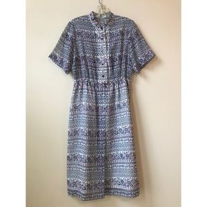 50s 60s patterned summer dress from Tokyo